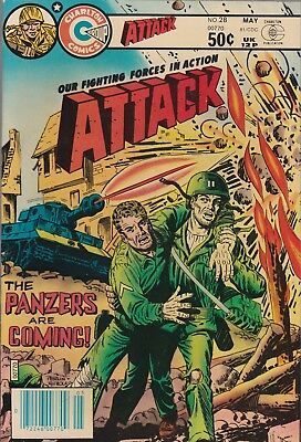 Attack, Our Fighting Forces In Action #28 May 1981 Charlton  FN-  FREE SHIPPING