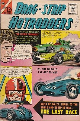 Drag-strip Hotrodders #7 1965 Charlton Comics. VG-  FREE SHIPPING