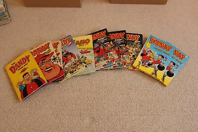 16 Dandy Annuals dating from the 1980's up to the late 90's