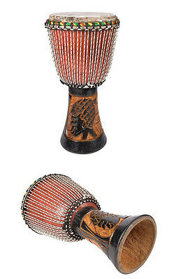 Djembe Djembes  Pro Schall-Loch  Dugura Holz Hand Percussion African Style Drum