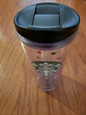 Starbucks 16oz Reusable Tumbler Cup With Lid Polka Dots Logo Coffee Cup Mug NEW!
