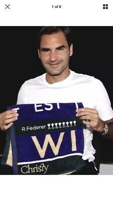 Wimbledon Limited Edition Official Tennis Players Roger Federer 2018 Towel Rare!
