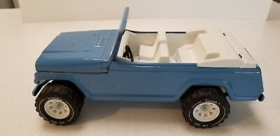 Vintage Toy Blue Metal Jeepster Made by Tonka Circa 1960's