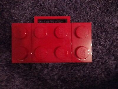 Red Lego Brick Radio CD Player Boombox. Can be  Wired or battery powered Gd cond