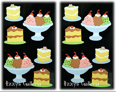 Mrs. Grossman's Simply Sassy Desserts Cake Banana Split Stickers Lot 2
