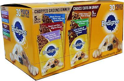 Pedigree Choice CUTS Beef Chicken Wet Adult Dog Food Variety Pack, 60 Pouches