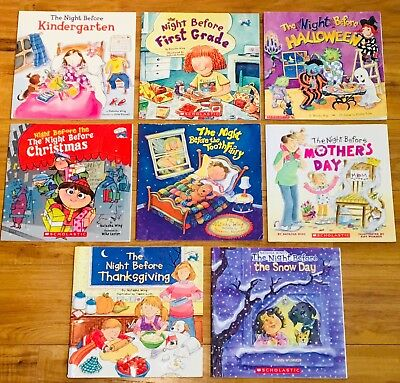 Lot of 8 Natasha Wing Children's Picture Books: The Night Before Series -All PB