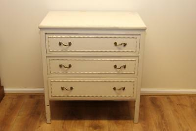 Vintage French Louis Style Shabby Chic Chest of Drawers