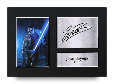 John Boyega Gift Signed A4 Printed Autograph Star Wars Gifts Print Photo Picture