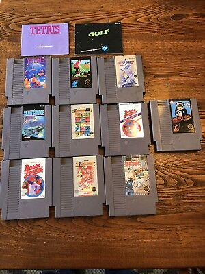Nintendo NES Game Lot - 10 Games