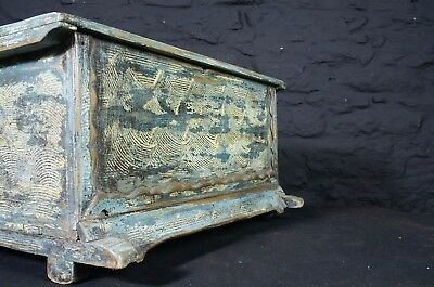 Decorative Vintage Wooden Chest in Blue Painted Finish ~ Storage Box Keepsakes