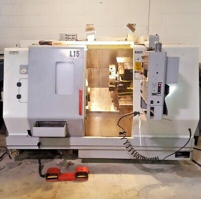 Haas® TL-15 SN# 65555 - 01 / 2002 Comes with one Z & one X Axis Live Tool as is.