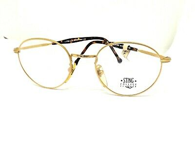 glasses sting occhiali da vista anni 80 made in italy lunettes eyewear OVALI ORO