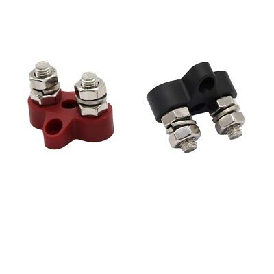 """2 x M8 Bus Bar Junction Block Power Set Insulated Terminal Stud 5//16/"""" Stainless"""