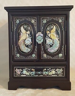 Vintage Chinese Four Draw Jewellery Box