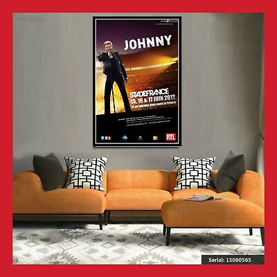 Replique Affiche Toile Poster Photo Concert Cd Johnny Hallyday Tournee 2012 Sdf