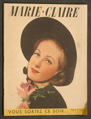 'marie-Claire' French Vintage Magazine 22 October 1937