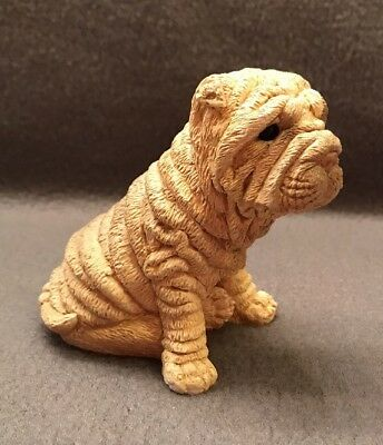 """1986 United Design """"stone Critters Collection"""" Shar Pei Dog Sc-214 Made In Usa"""