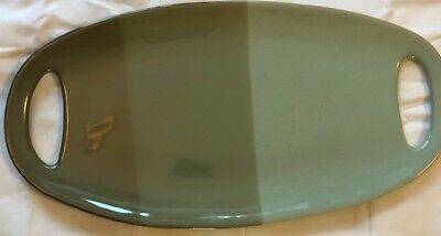 """Project 62 Round Enamel Small Decorative Tray Plate Green Black 7"""" New 2"""