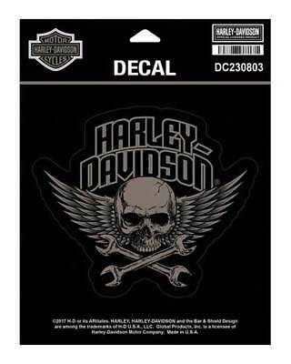 Harley-Davidson Wrenched Skull Decal, MD Size - 5.5 x 4.75 inches DC230803