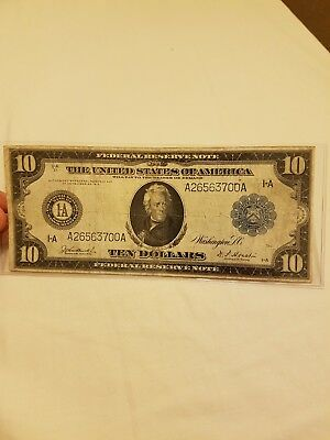 The United States of America 10 Ten Dollars 1914 year Federal Reserve Note