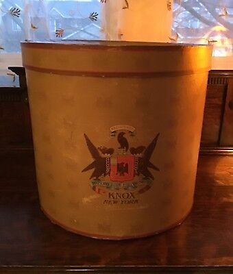Antique Vintage Knox New York Hat Box Tophat Size Very Good Condition for Age