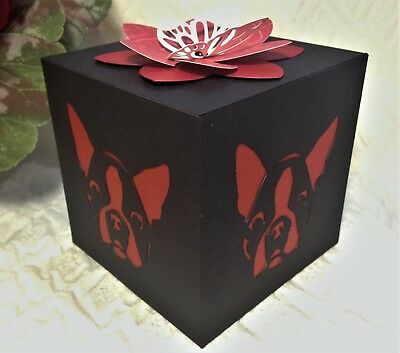 Boston Terrier Valentine's Day Gift LED Flameless Candle Luminary