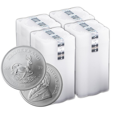 Daily Deal - Lot of 100 - 2019 South Africa Silver Krugerrand 1 oz Brilliant Unc