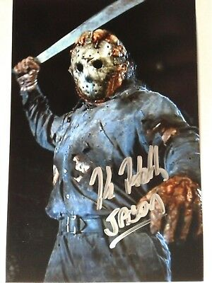 Kane Hodder AS Jason Voorhees Authentic Hand Signed 4X6 Photo - FRIDAY THE 13th