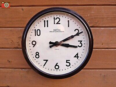 Vintage Bakelite Smiths English Clock, Restored & Converted To Electronic.