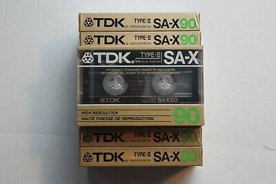 Vintage TDK Blank Cassette Tape TDK SA-X 90 Type II Japan 1985 Sealed VERY RARE