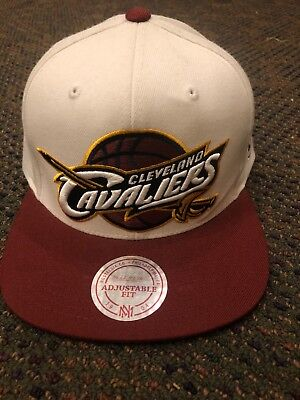 super popular de728 8e286 ... coupon mitchell ness clevland cavaliers xl logo white burgandy snapback  cap nba nwot f7920 caab9