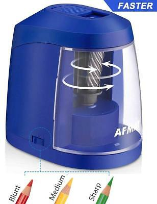 Colored Pencil Sharpener-USB & AC Adapter and Battery Electric Pencil Sharpener
