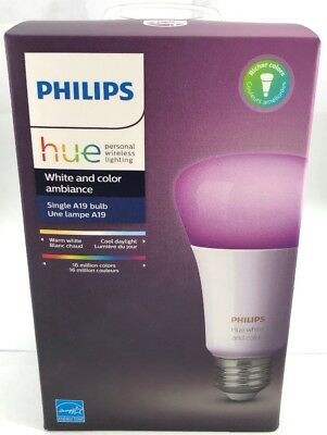 Philips HUE White and Color Ambiance Bulb 3rd Generation 464487 New! (FK2001987)