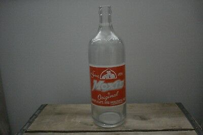Vintage Moxie ACL Soda glass Bottle Needham Heights MA 1 pint, 10 fl oz.