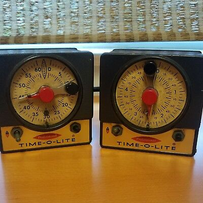 (2) TIME-O-LITE MODEL P-59 DARKROOM TIMERS - 60 sec and 5 min