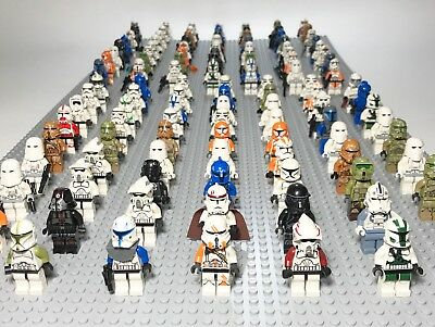 Lot of 4 RANDOM Lego Star Wars Minifigures Lot Clone Storm Troopers Commander