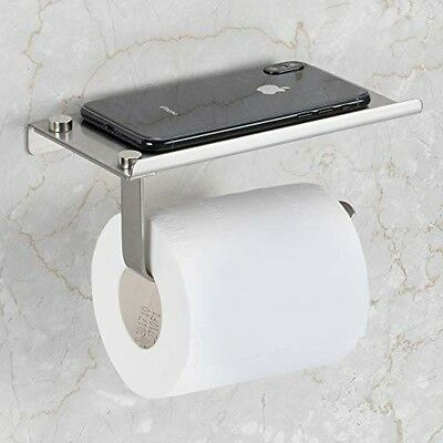 Bosszi Wall Mount Toilet Paper Holder, SUS304 Stainless Steel Bathroom Tissue Ho