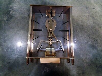 Vintage Kundo Kieninger Obergfell Brass Mantel Skeleton Clock West Germany