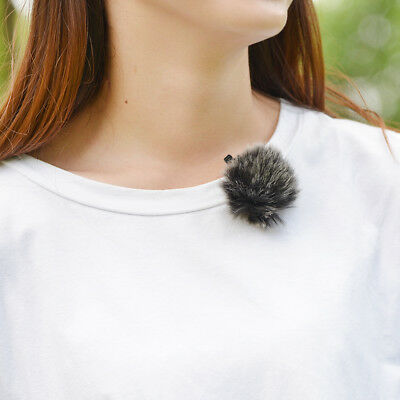Black Fur Microphone Windscreen Wind Proof Muff for Lapel Lavalier Mic Parts