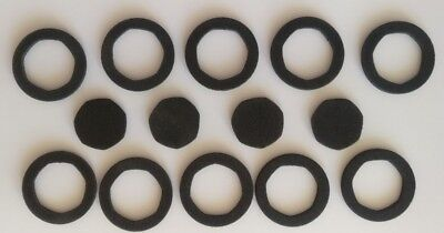 10 Black Foam Inserts [40mm] with a 7 sided hole sized to fit a 50p coin