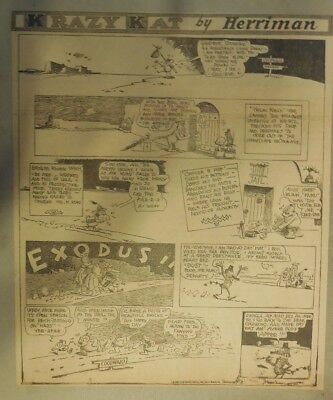 Krazy Kat Sunday by George Herriman from 7/6/1930 Tabloid Size Page
