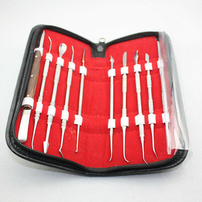 NEW 5 Sets Dental Stainless Steel Kit Wax Carving Tool Set Lab Instrument
