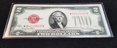 1928 $2 Red Seal Star Note Circulated  Nice Condition