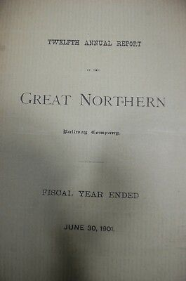 Great Northern Railway Annual Shareholders report 1901