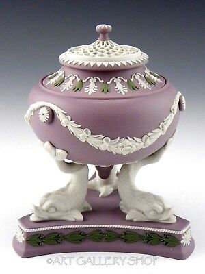 Wedgwood ST. JAMES'S COLLECTION PASTILLE BURNER DOLPHIN LILAC JASPER Limited Ed.