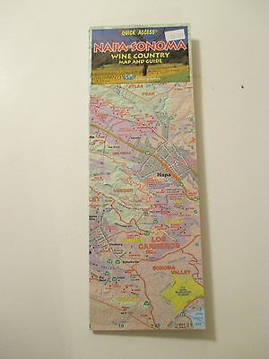 NAPA-SONOMA WINE COUNTRY MAP & GUIDE California Travel Road Map