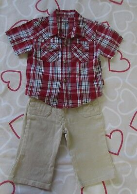 BABY BOYS size 0 Pumpkin Patch  Shirt & Esprit Pants