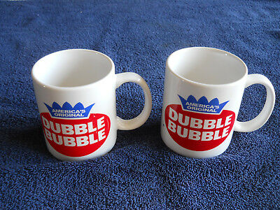 "Dubble Bubble Gum Advertising Coffee Cups / Mugs ""America's Original"""