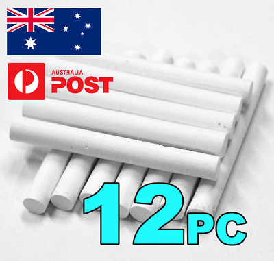 ***12 x LOW DUST WHITE CHALK STICKS*** CHALK BOARD, OFFICE, SCHOOL FREE SHIPPING